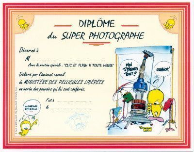 DIPLOME DU SUPER PHOTOGRAPHE