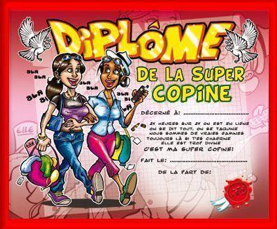 DIPLOME SUPER COPINE