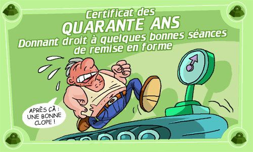 CERTIFICAT DES 40 ANS