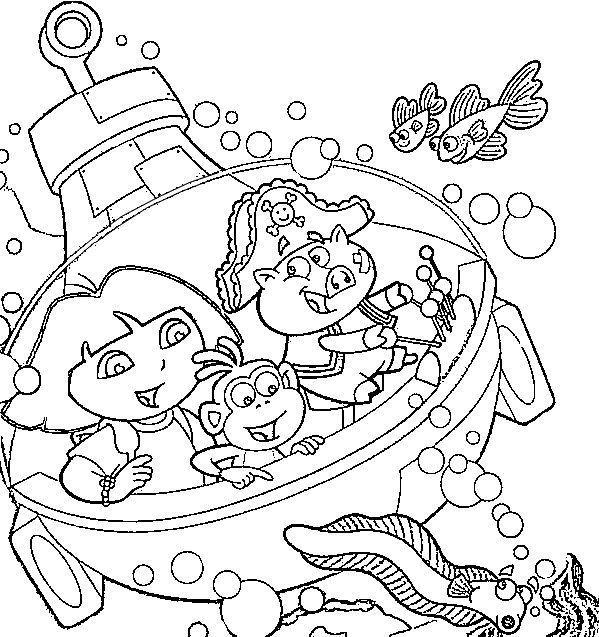 Coloriage dora - Dora coloriage ...