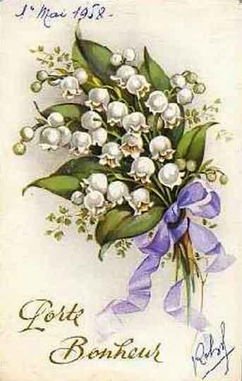 Cartes postales anciennes pour le 1er mai - Fête du travail - BONHEUR DE LIRE