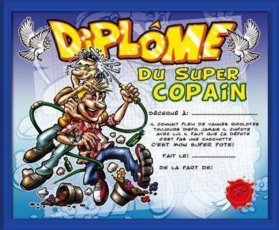 DIPLOME SUPER COPAIN